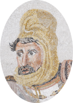 Image of Darius III from the Battle of Issus mosaic, as his beard looks a little like mine.